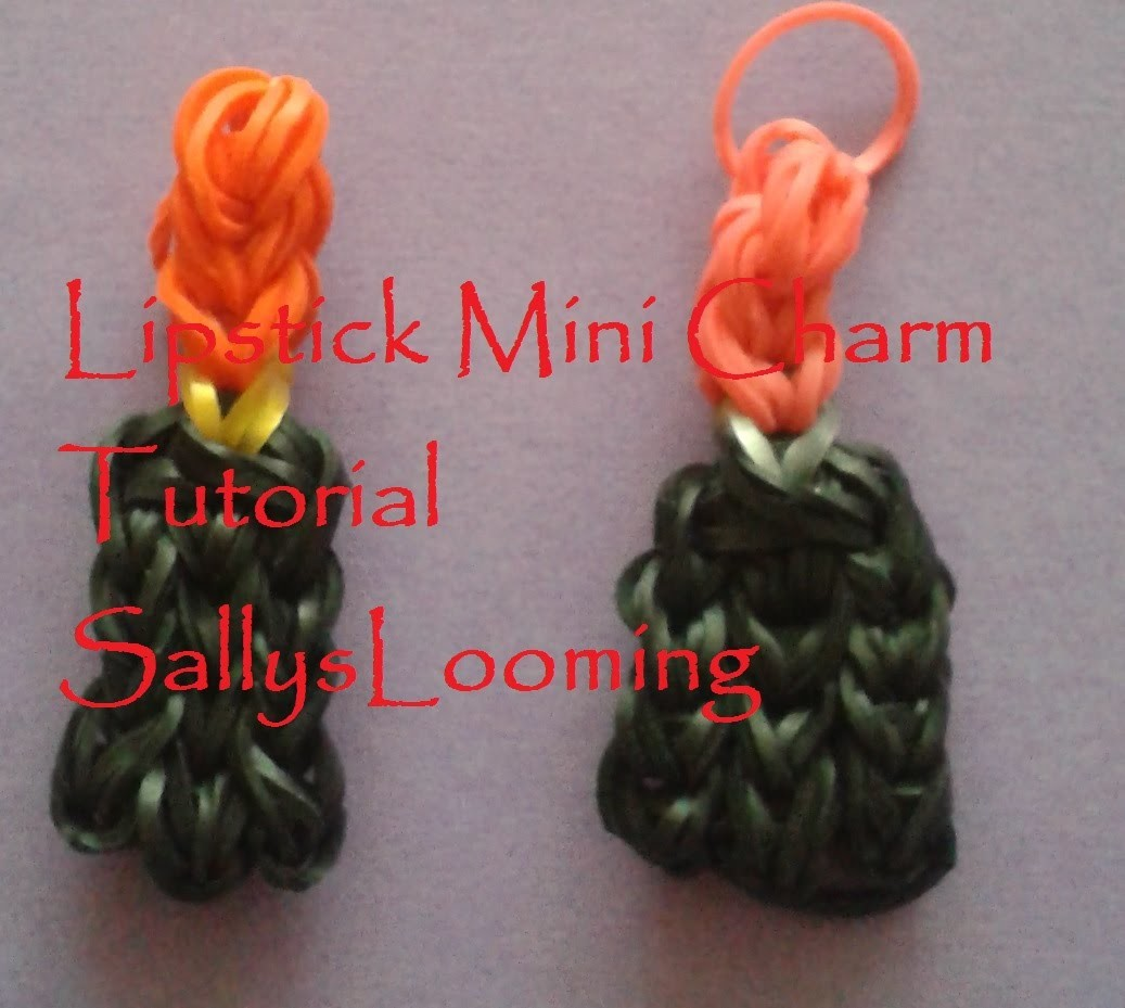 Lipstick. Lip gloss Mini Charm Loom Band Tutorial