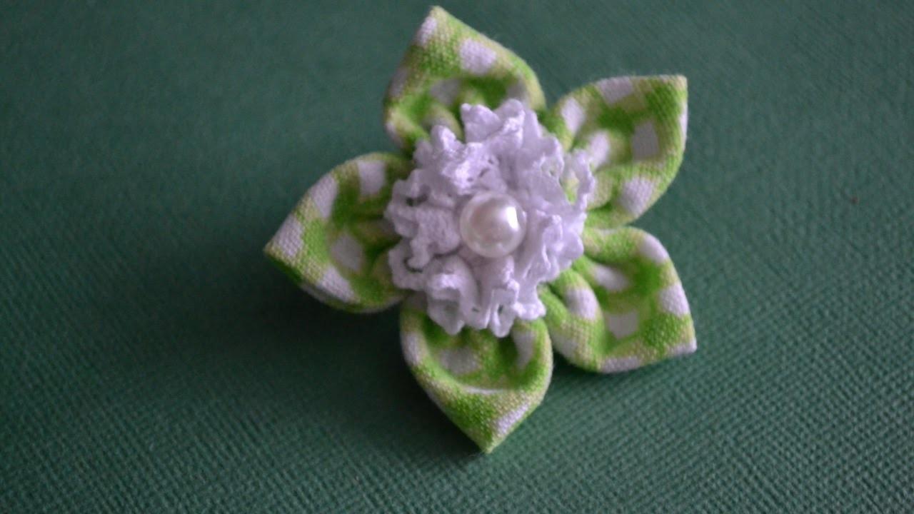 Make a Cute Cloth Flower Scrunchy - DIY Style - Guidecentral