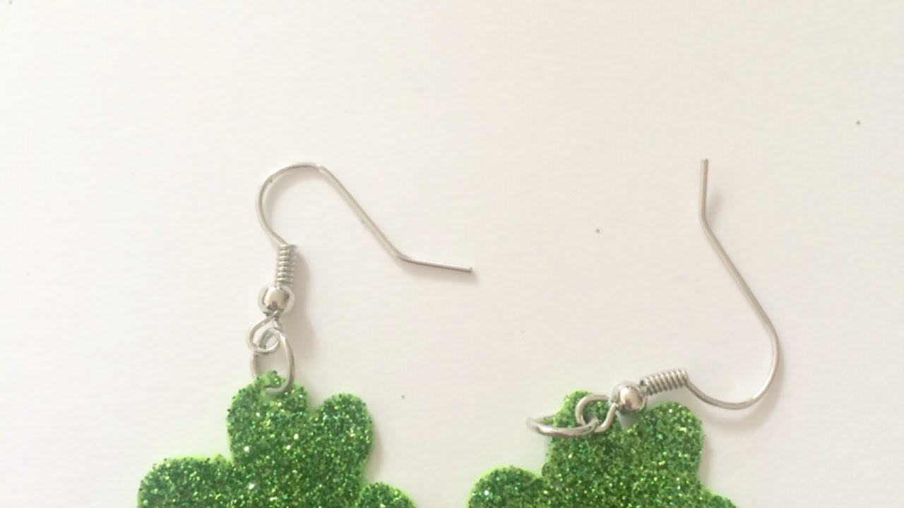 Make Glitter Shamrock Earrings - DIY Style - Guidecentral
