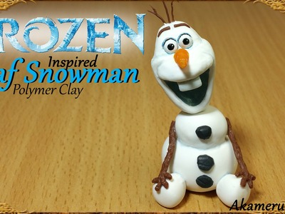 Olaf Snowman; Disney's Frozen inspired - Polymer Clay Tutorial