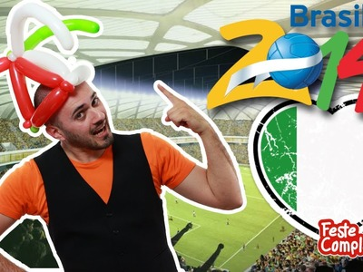 Palloncini Modellabili Cappello - Balloon Hat Tutorial Brasil 2014 - Tutorial 101 - Feste Compleanni
