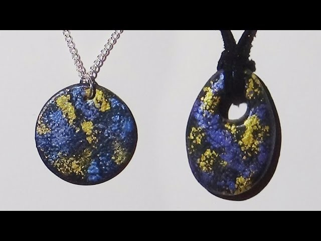 Polymer Clay Pendant - Spattered Mica Powder - Polymer Clay Tutorial