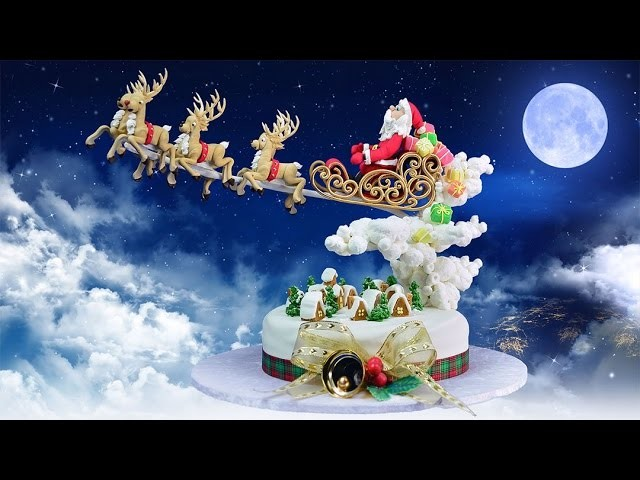 Santas in Town Christmas Cake Tutorial - Introduction