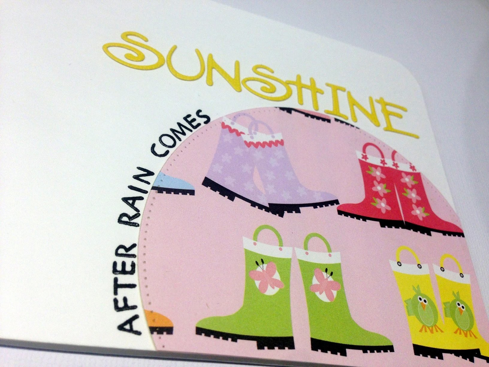 Simple card tutorial, After rain comes sunshine