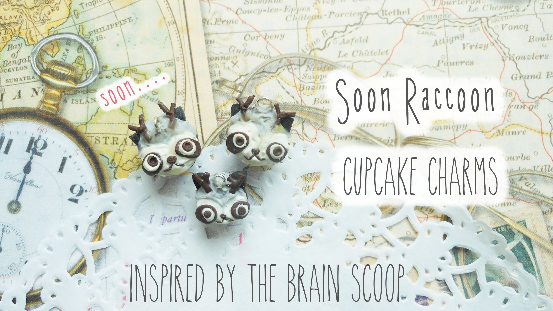 Soon Raccoon Cupcake Charm Tutorial