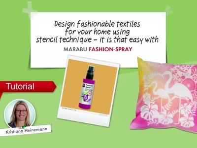 "Tutorial ""STENCILLING"" by Marabu Fashion (English)"