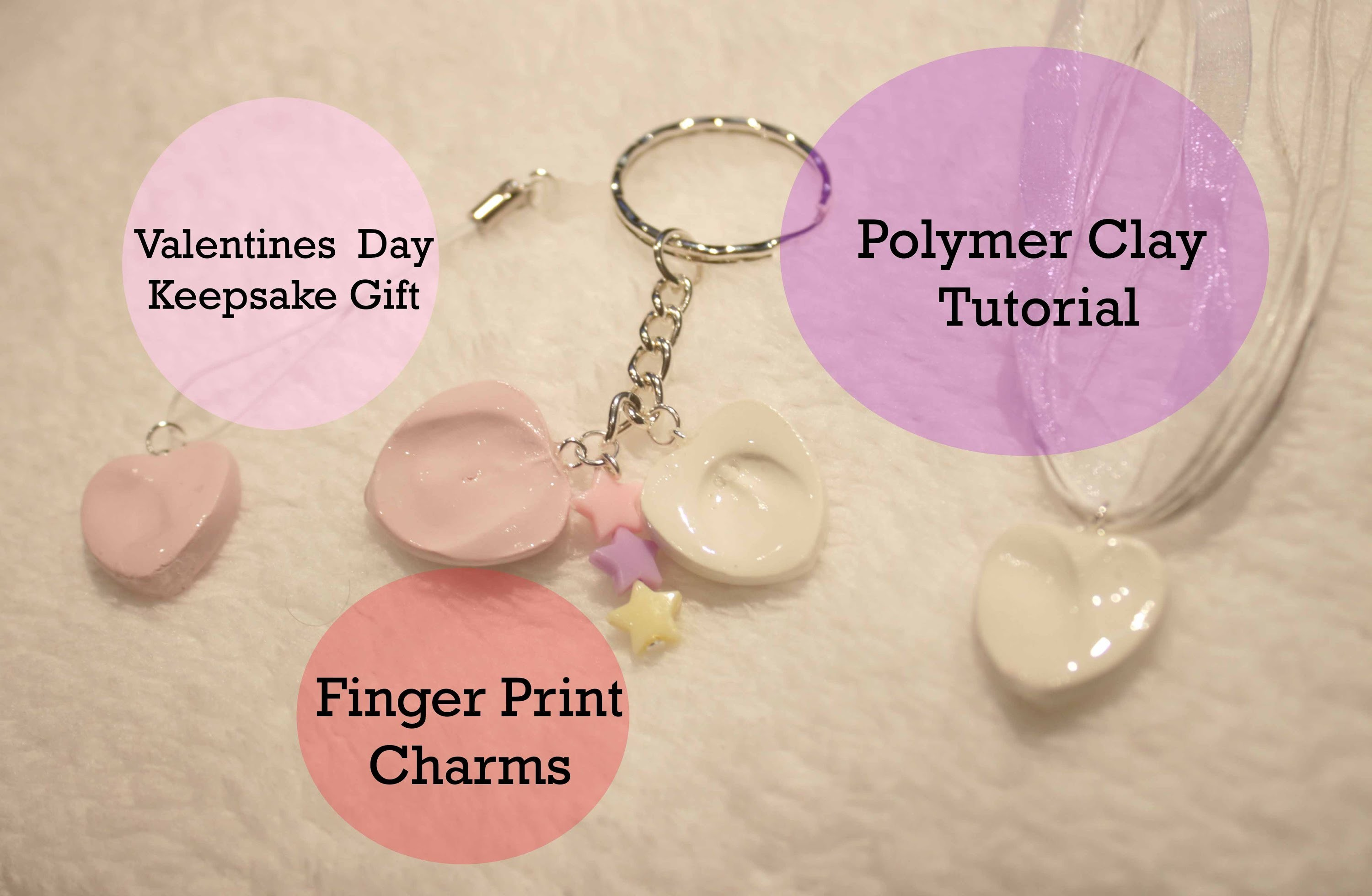 Valentines Day Keepsake Charm Gift Clay Tutorial