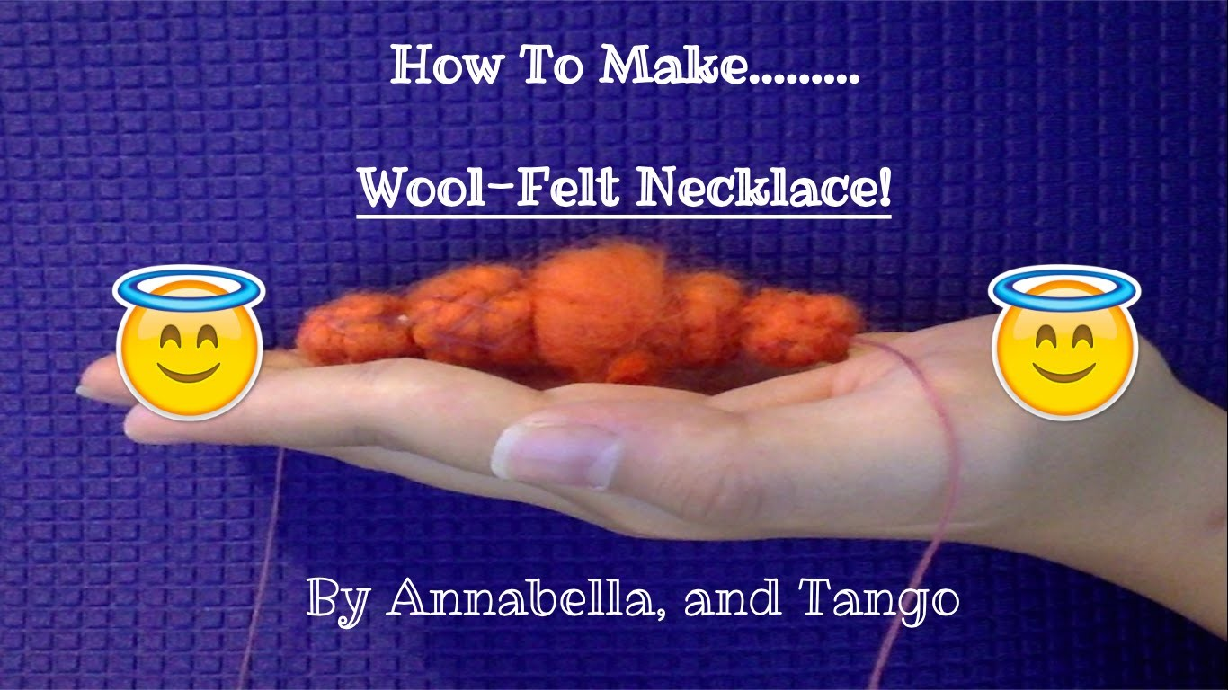 Wool-Felt Necklace | Thrown In Tutorial