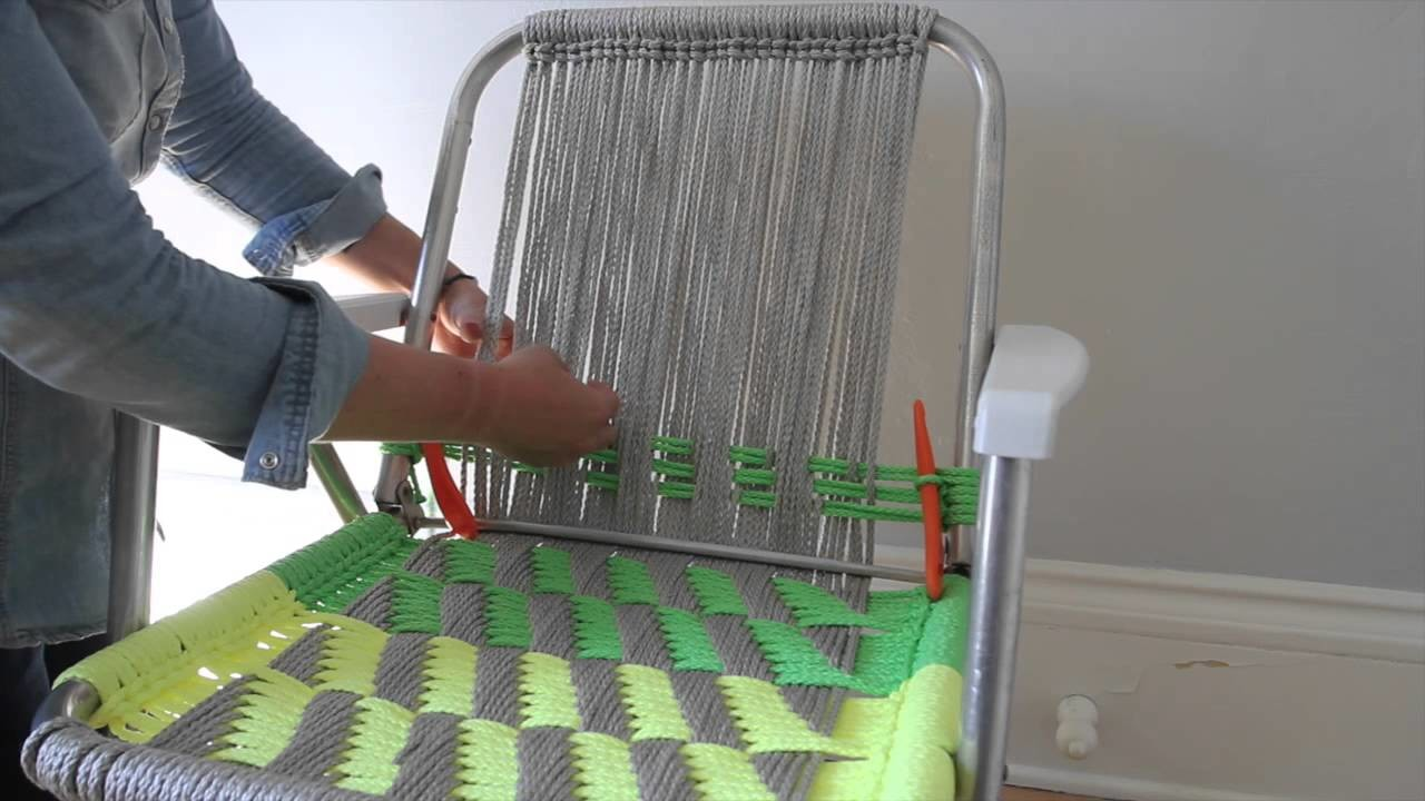 Woven Macramé Chair Tutorial - Part 2