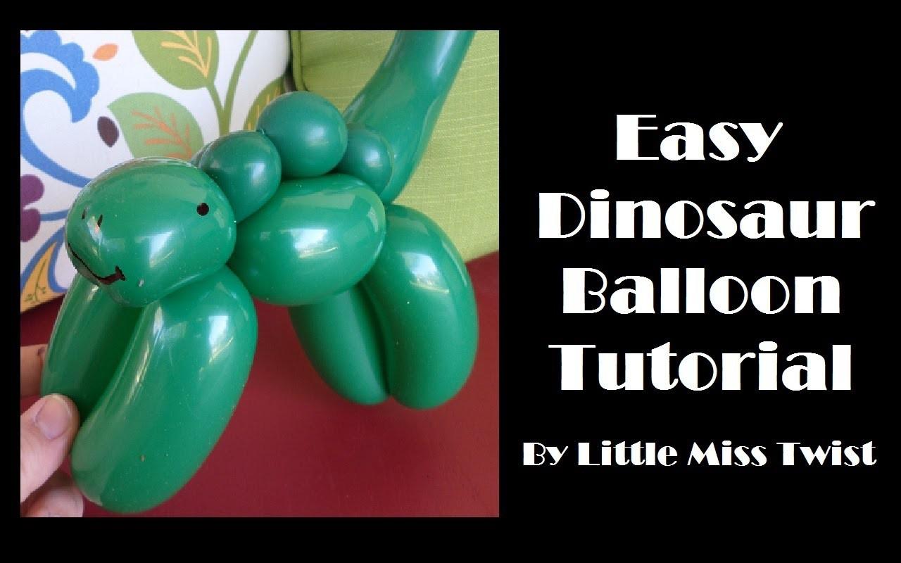 #20 Easy Dinosaur Balloon Tutorial