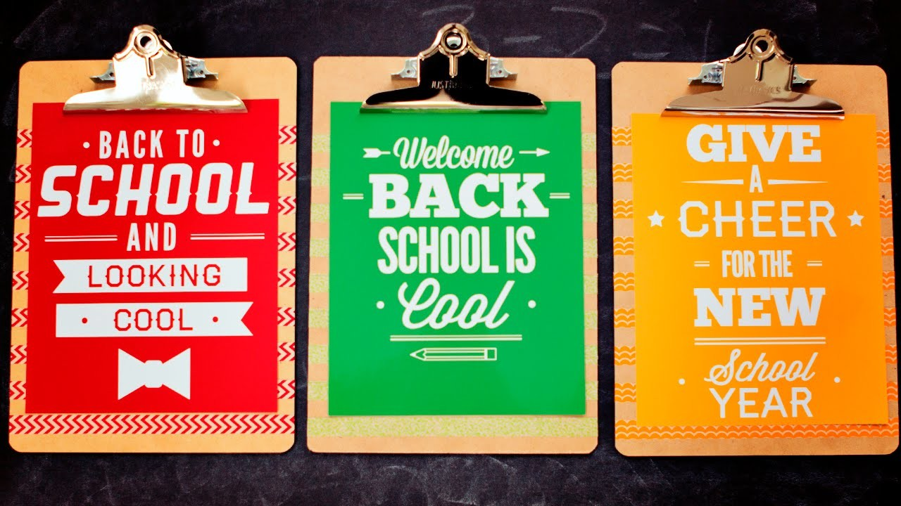 Back to School Printable Decor Tutorial (FREE printable)