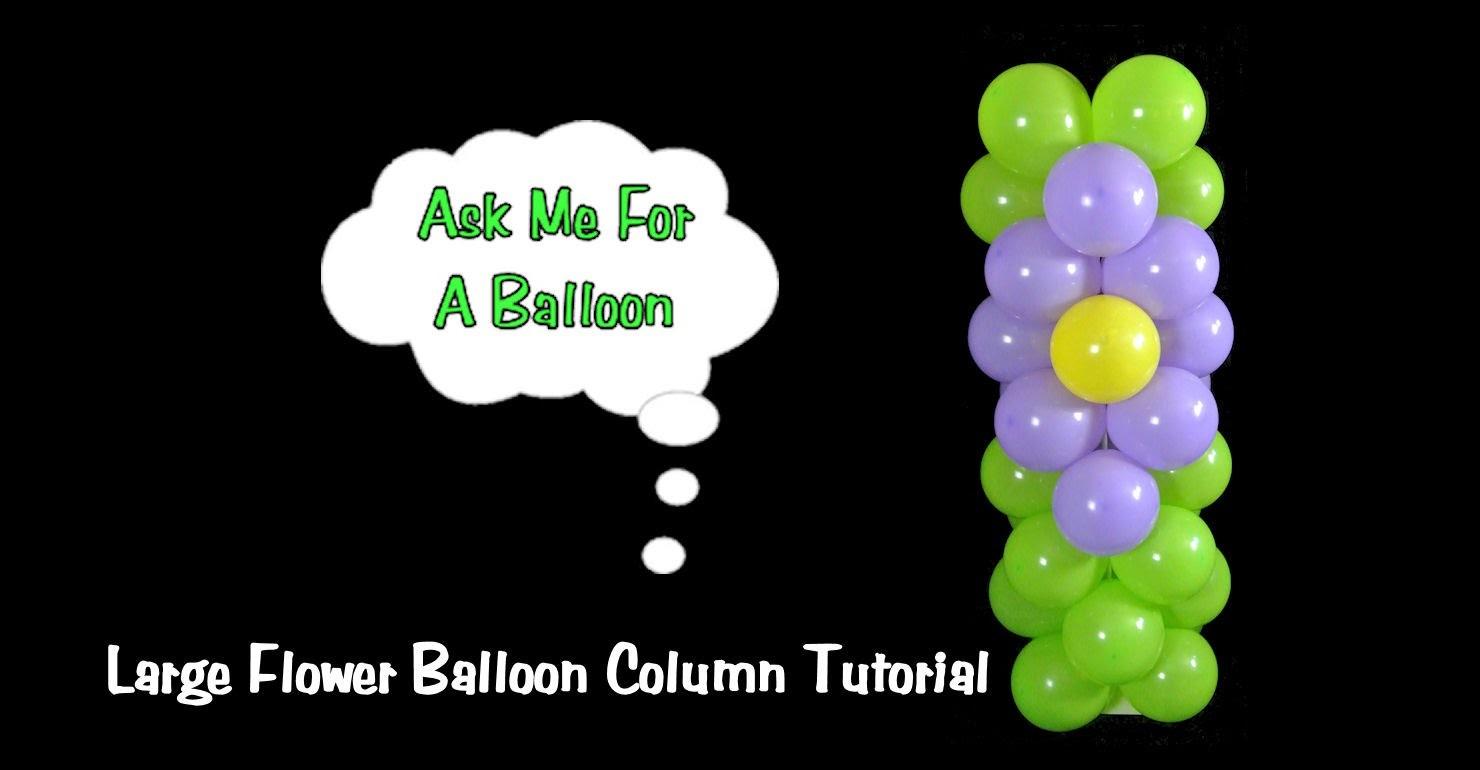 Balloon Column with Flower Design Tutorial