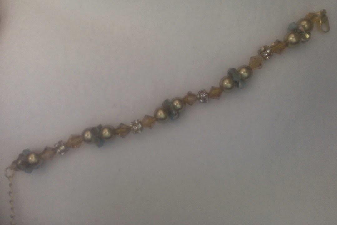 Beaded Crystal ring bracelet tutorial