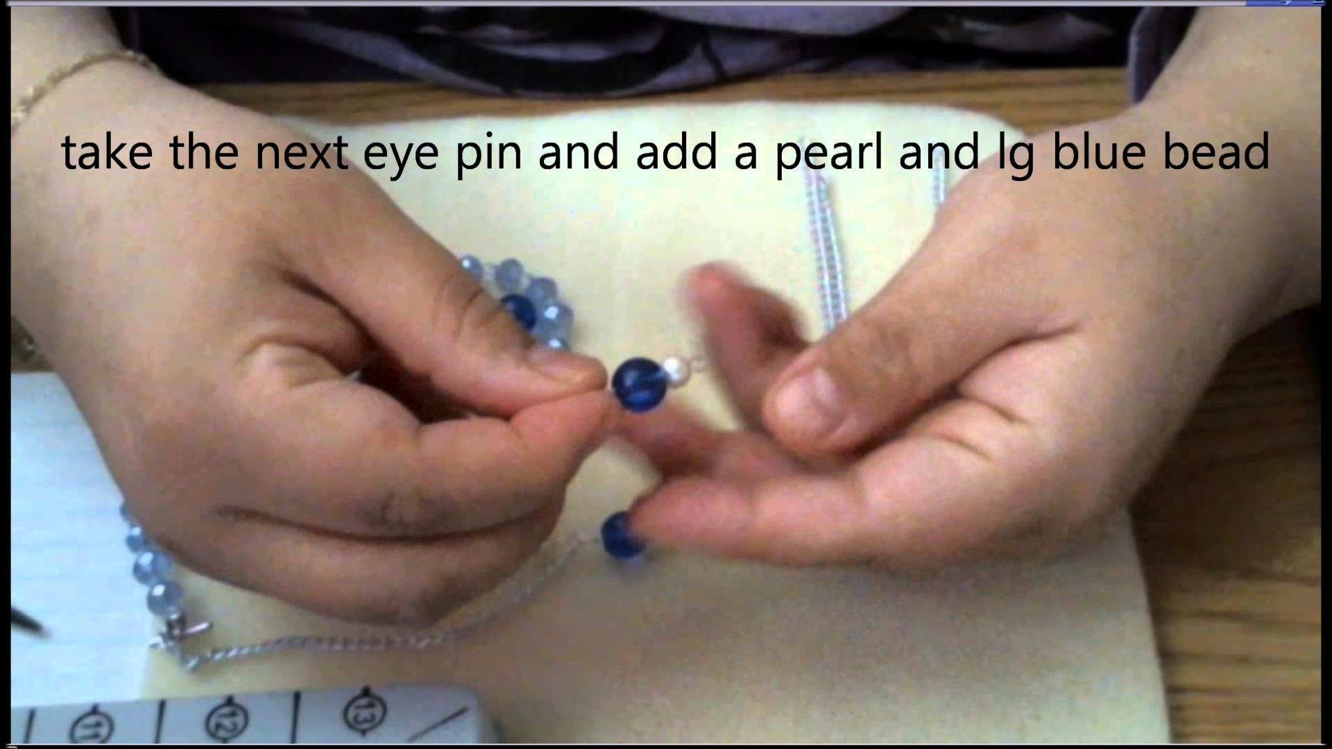 Blue Glass Necklace Tutorial