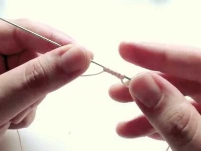 Chiacchierino ad ago: gli aghi, i filati e tutorial sui nodi di base (Needle tatting tutorial)