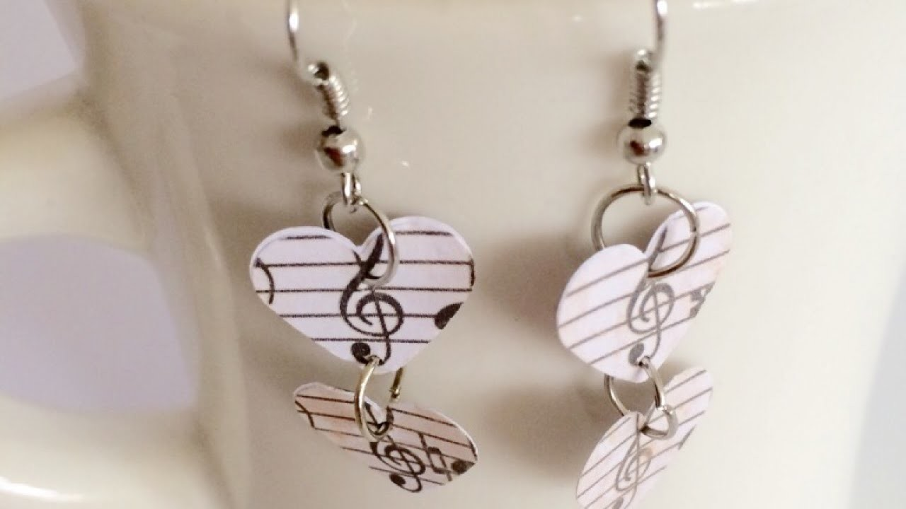 Create Simple Music Themed Earrings - DIY  - Guidecentral