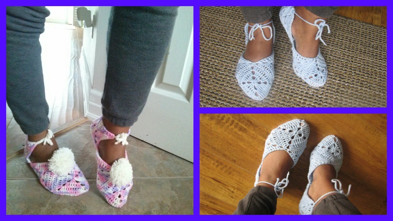 Crochet Granny Slippers Tutorial