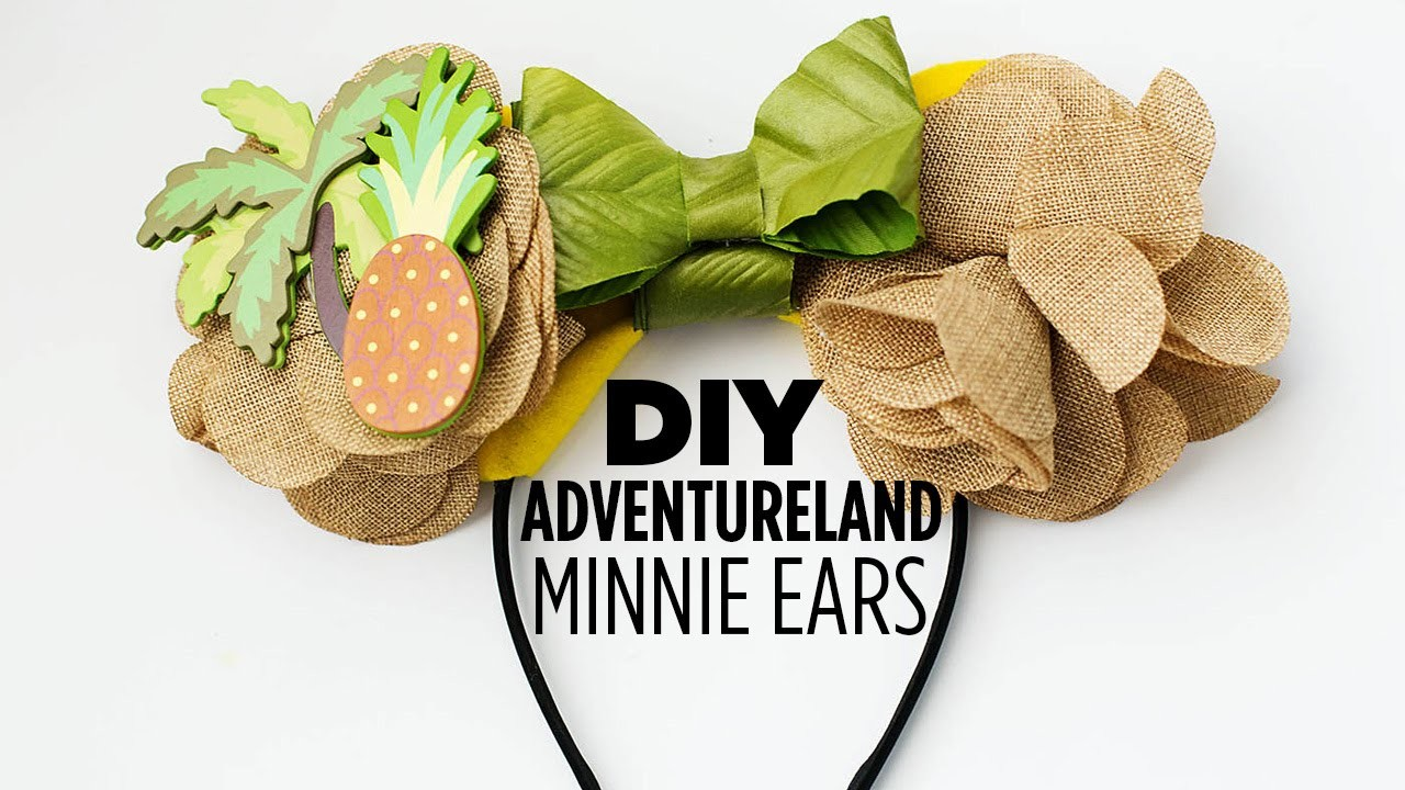 DIY Adventureland Minnie Ears