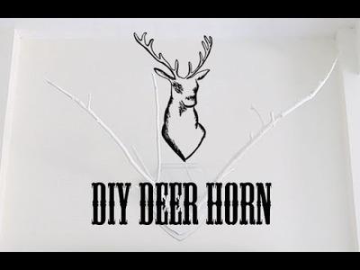 DIY (FAUX) DEER HORNS.ANTLERS