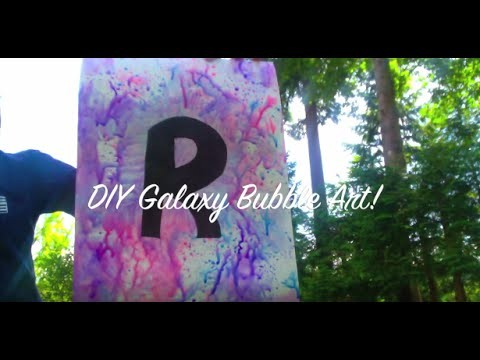 DIY Galaxy Bubble Art!