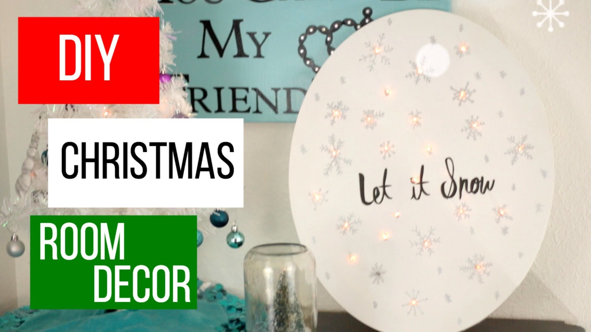 DIY Holiday Room Decor | Easy DIY Christmas Room Decor