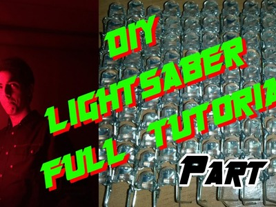 DIY lightsaber full tutorial - LED string edition - Part 1