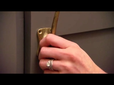 DIY Tip for cabinet hardware from Glue Dots Adhesives