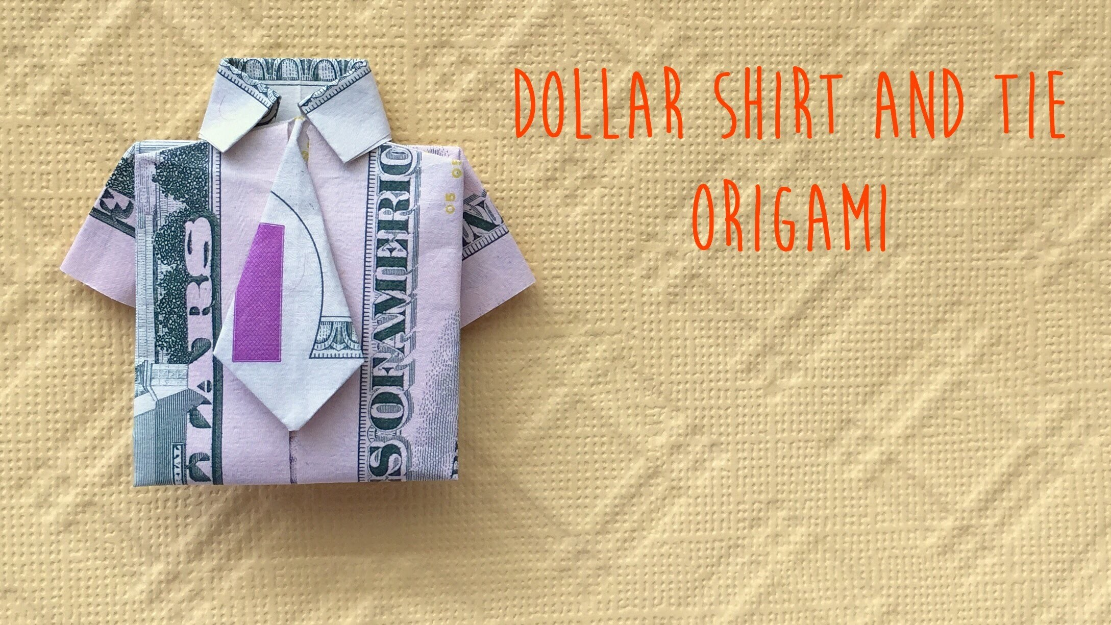 Dollar Shirt and NeckTie Origami Tutorial