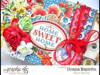 Donna Espiritu Graphic45 Home sweet home tag mini tutorial