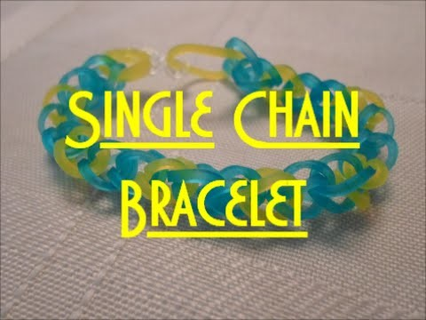 Easy Single Chain Bracelet Tutorial (without loom)