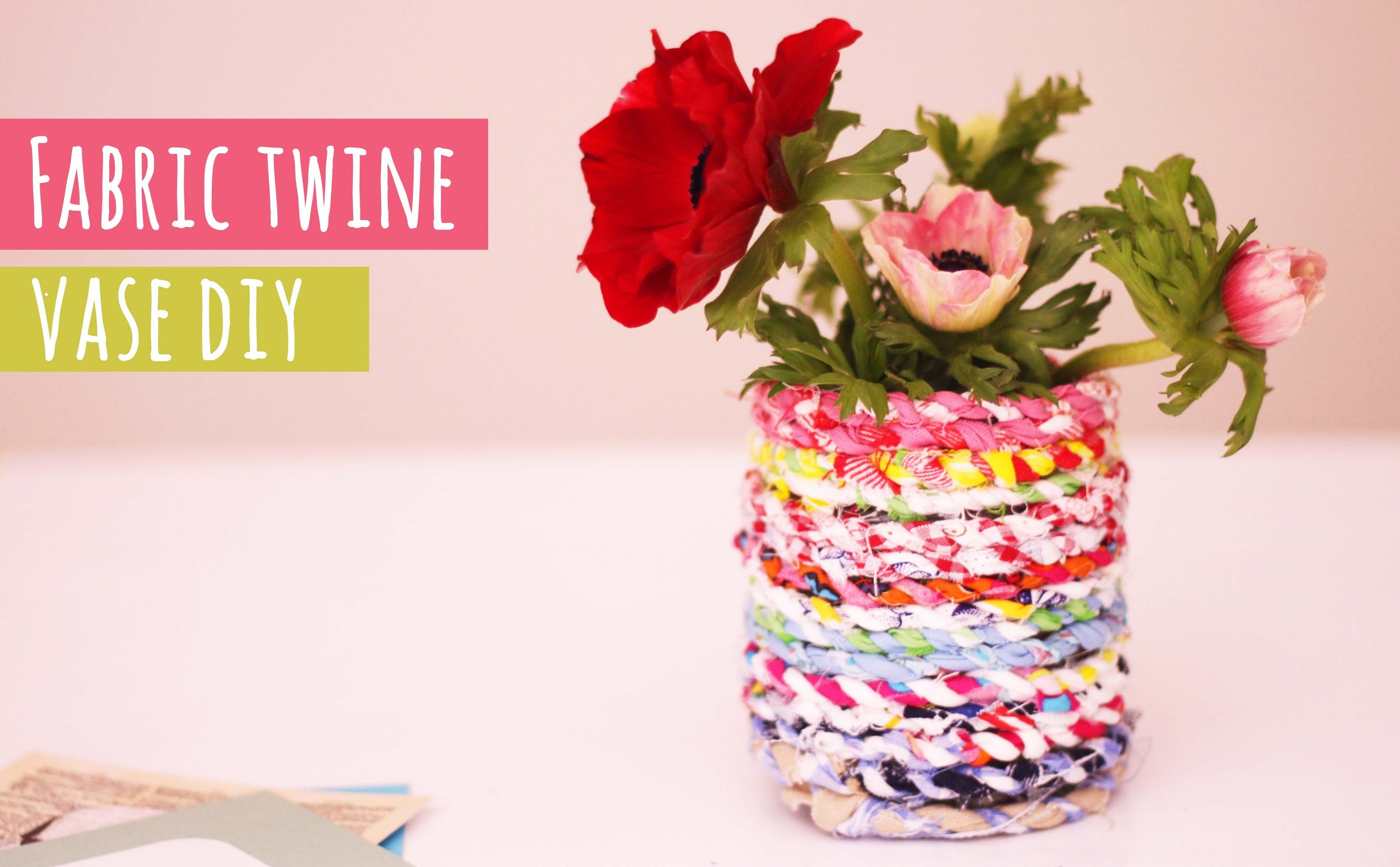 Fabric twine vase tutorial