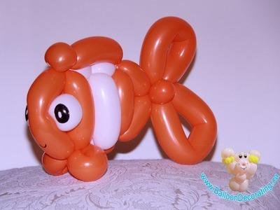 Finding Nemo- Nemo clown fish balloons tutorial
