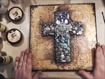 Finnibair Inspired Altered Cross with Canvas Tutorial