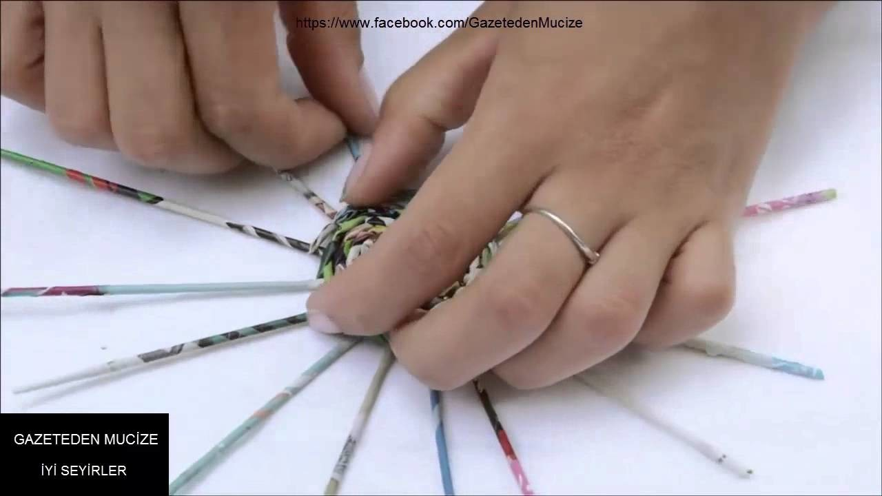 Gazeteden Küpe yapımı.TUTORIAL Earrings _ kolczyki - YouTube