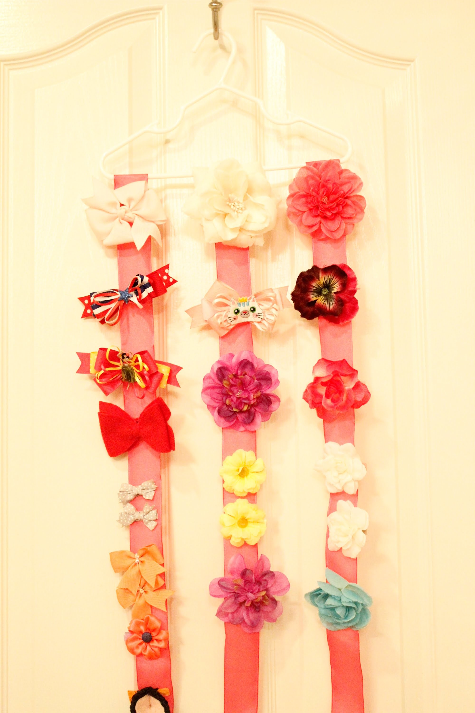 Hair Accessory Organizer System - Bow Holder - Tutorial