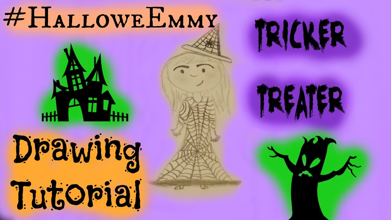 #HalloweEmmy Tricker Treater Drawing Tutorial
