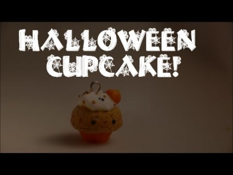 Halloween cupcake tutorial (polymer clay)