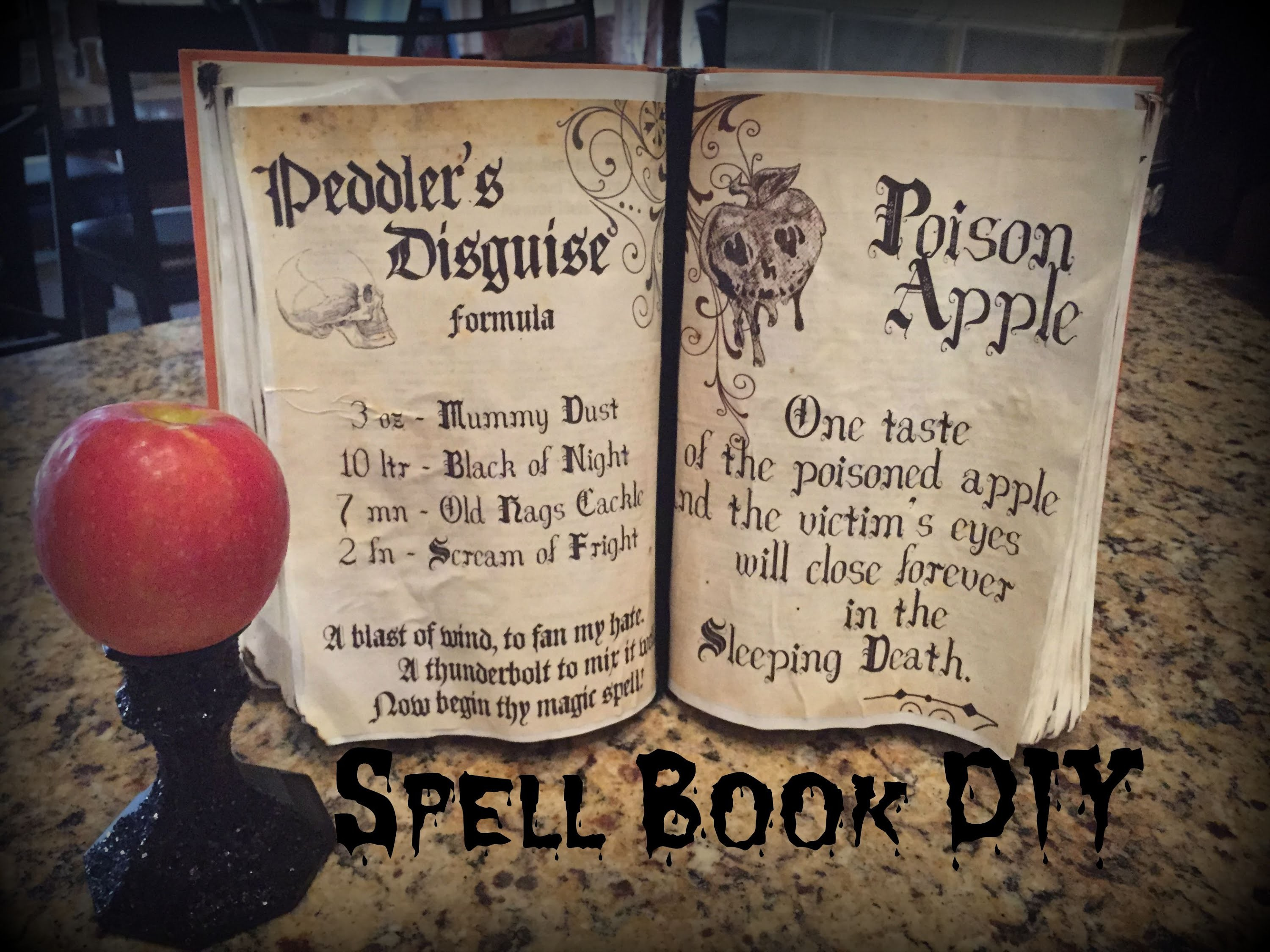 Halloween Spell Book.Book of Shadows Tutorial