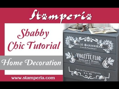 How to give new life to furniture?  Tutorial Shabby Chic