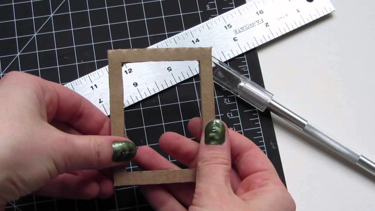 How To Make A Doll Size Picture Frame FREE Tutorial for American Girl Dolls