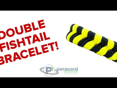 How To Make A Double Fishtail Paracord Bracelet - Paracord Planet Tutorial
