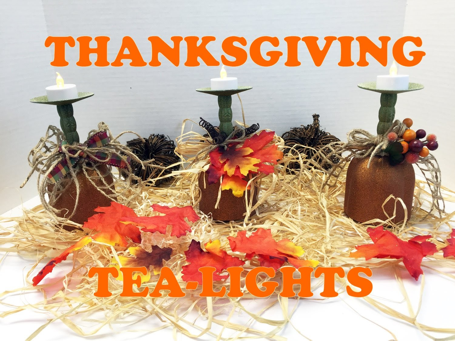 How to make Thanksgiving Pumpkin Tea-lights Tutorial