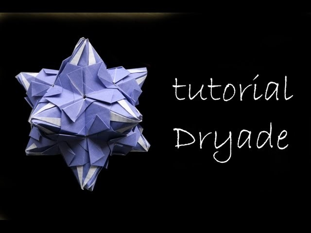 Kusudama - modular origami - Dryade - Natalia Romanenko  - tutorial - dutchpapergirl