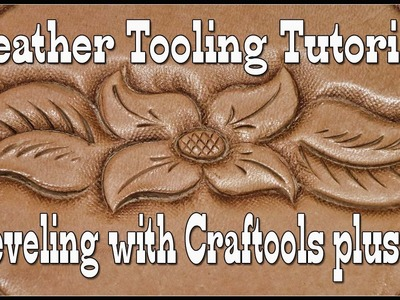 Leather Tooling Tutorial - Beveling with Craftool B802 B803 - Swivel Knife Techniques