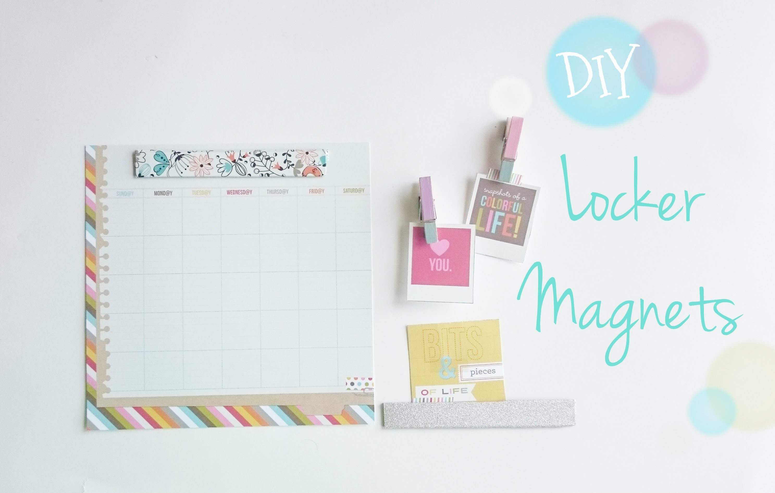 Locker Magnets DIY Back to School