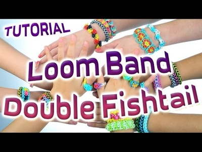 Loom Bands Instructions - How to make a loom bracelet Easy tutorial Loom Band Double Fishtail