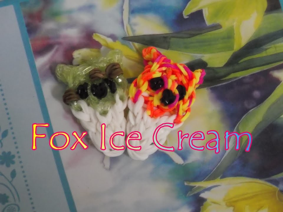 Loom Bands: Kawaii Fox Ice Cream. Snowcone Tutorial!