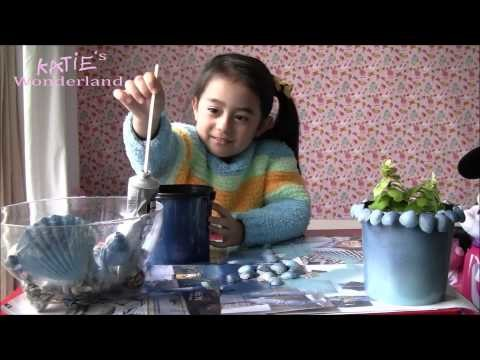 Make your shells pot with your family-------Children DIY
