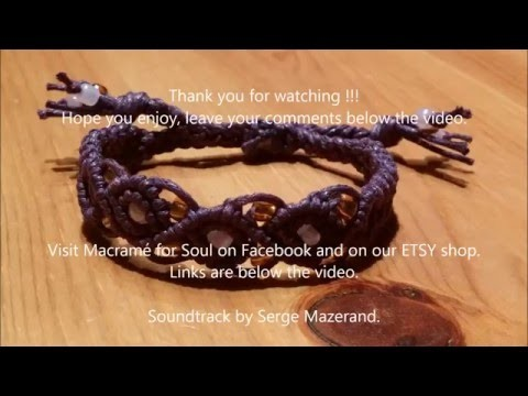 Micro-macramé Kids Bracelet tutorial by Macramé for Soul- video #2