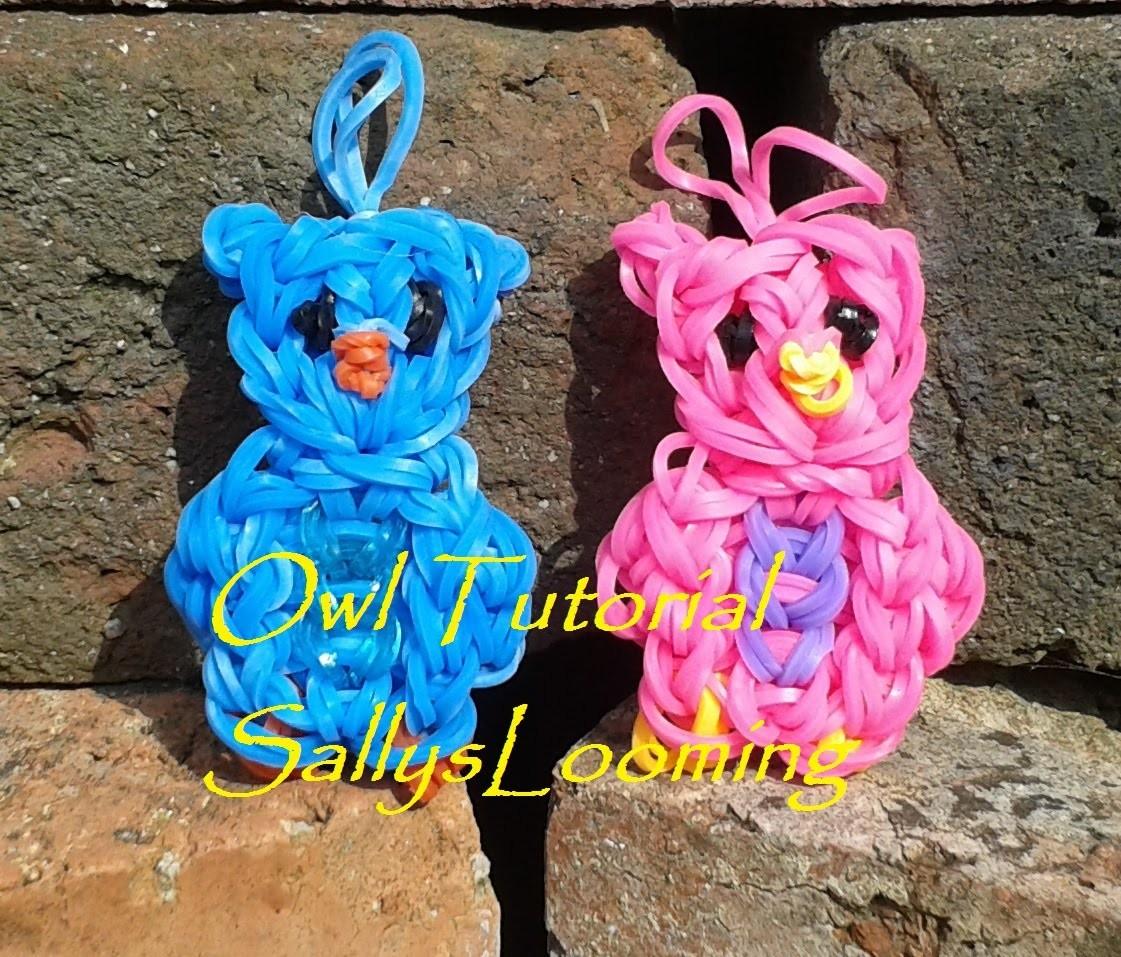 Mini Owl Charm Loom Band Tutorial